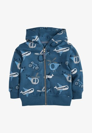 AEROPLANE ALL OVER PRINT - Zip-up hoodie - blue