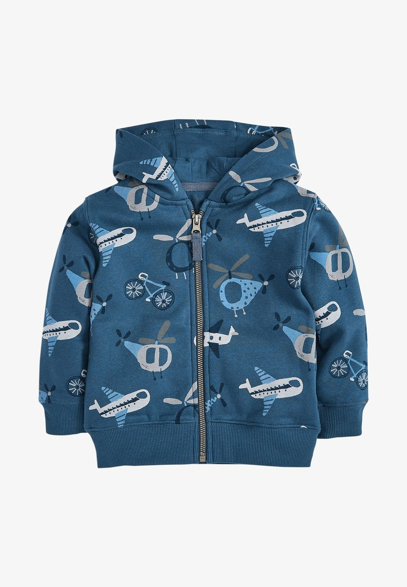 Next - AEROPLANE ALL OVER PRINT - Zip-up hoodie - blue