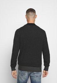 Calvin Klein - BASEBALL ZIP - Stickad tröja - black - 2