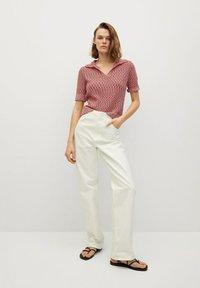 Mango - Print T-shirt - rosa - 1