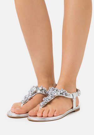 VEGAN RHONDA - T-bar sandals - silver