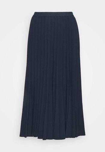 DAFFODIL PLEATED MIDI SKIRT - A-line skirt - total eclipse