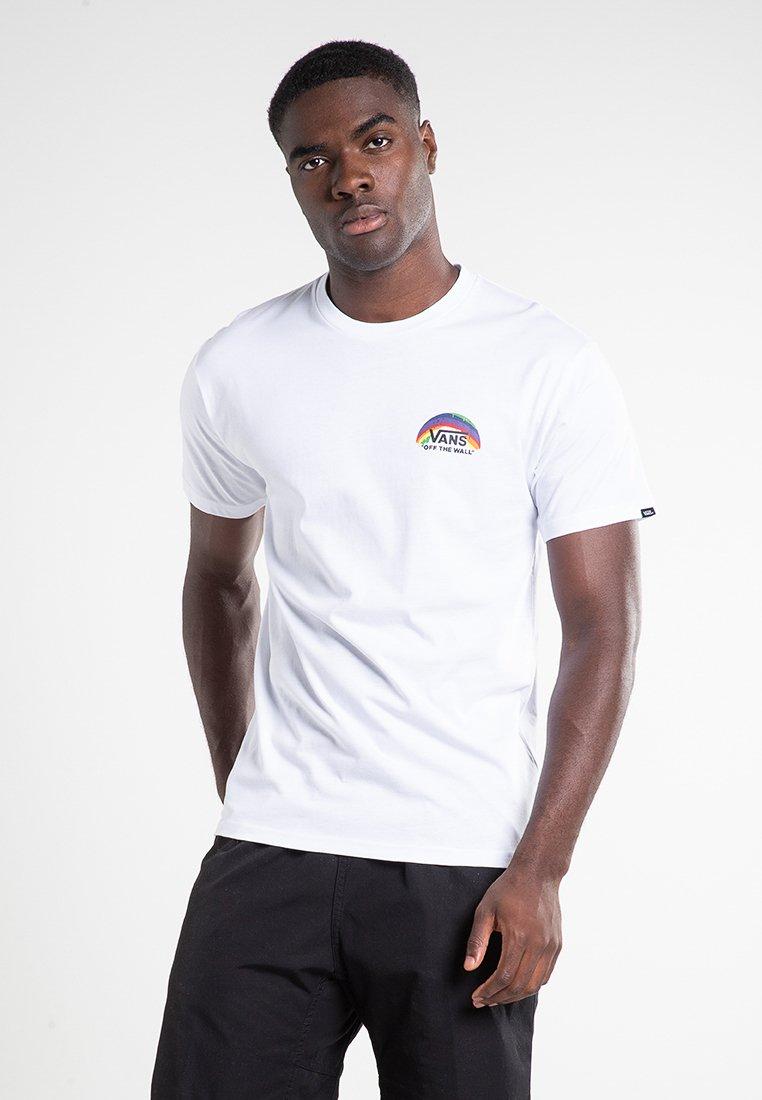 Vans - RAINBOW  - T-shirt imprimé - white