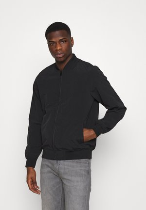 Giubbotto Bomber - textured black