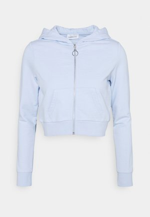 Mikina na zip - light blue