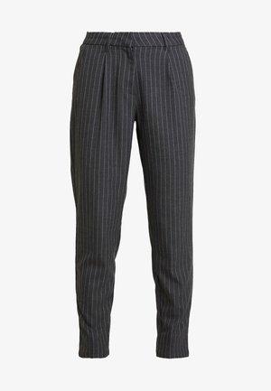 ONLKELIA PINSTRIPE PANT - Trousers - dark grey melange
