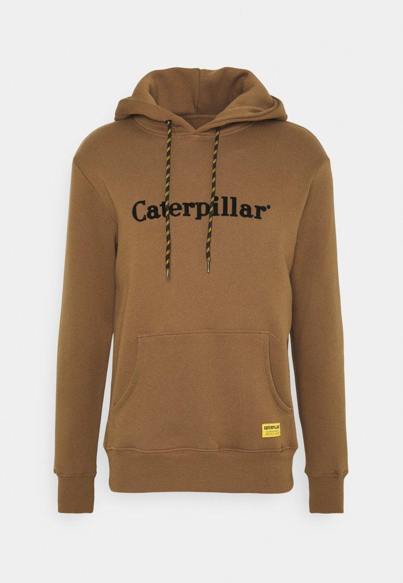 Caterpillar - HOODIE - Luvtröja - camel