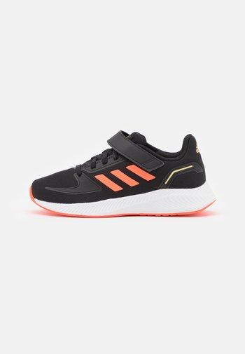RUNFALCON 2.0 UNISEX - Neutral running shoes - core black/solar red/footwear white