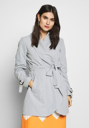 FEMININE COAT - Short coat - grey blue