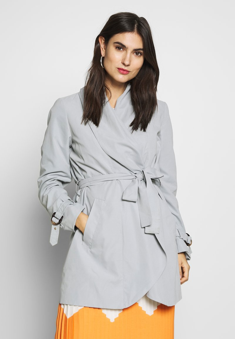 Esprit Collection - FEMININE COAT - Krótki płaszcz - grey blue