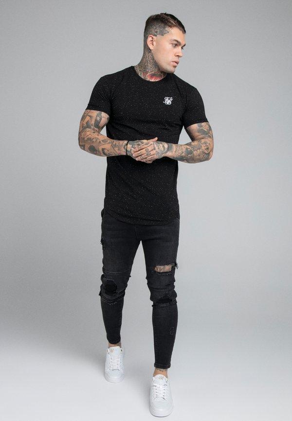 SIKSILK NEPS TEE - T-shirt basic - black/czarny Odzież Męska ZZVZ