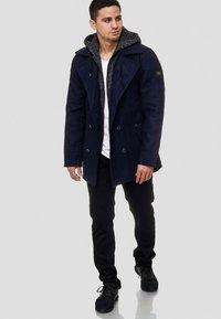 INDICODE JEANS - Krótki płaszcz - dark blue - 1