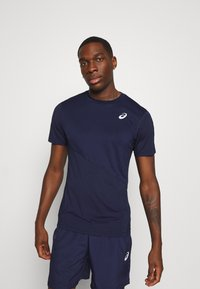 ASICS - CLUB TEE - T-shirt basique - peacoat/peacoat - 0