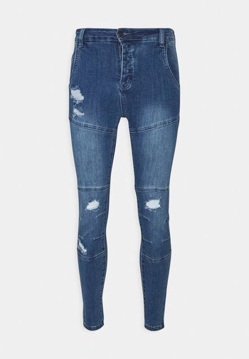 CUT SEW - Jeans Skinny Fit - vintage blue