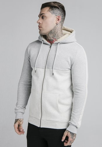 CUT AND SEW BORG ZIPTHROUGH HOODIE
