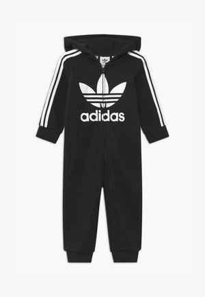 HOODED ONESIE UNISEX - Tuta jumpsuit - black/white