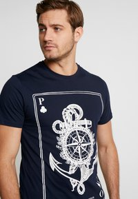Pier One - Printtipaita - dark blue - 3