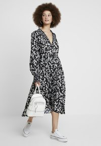 French Connection - BRUNA LIGHT DRESS - Maxi dress - black/classic cream - 1