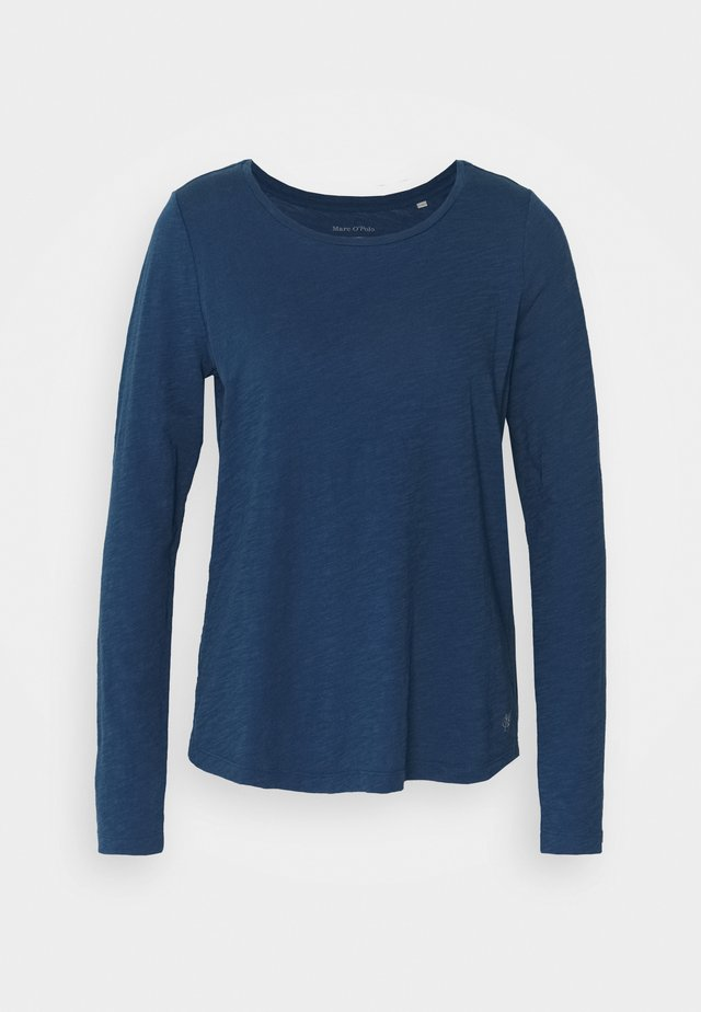 LONG SLEEVE ROUND NECK - Long sleeved top - bright smoky blue