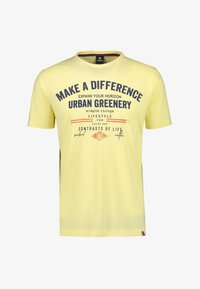 LERROS - MAKE A DIFFERENCE - Print T-shirt - pale yellow - 0