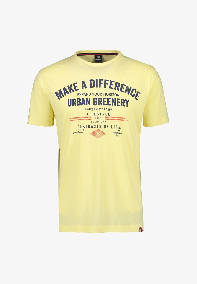 LERROS - MAKE A DIFFERENCE - Print T-shirt - pale yellow
