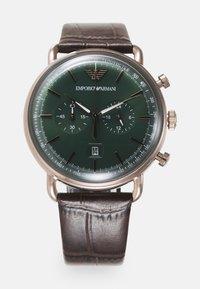 Emporio Armani - Cronografo - brown - 0