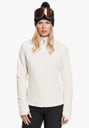 MIT REISSVERSCHLUSS  - Fleece jacket - angora