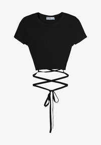 Bershka - T-Shirt print - black - 4