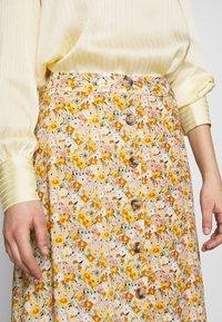 Mavi - LONG SKIRT - A-line skirt - antique white soft ditsy - 3