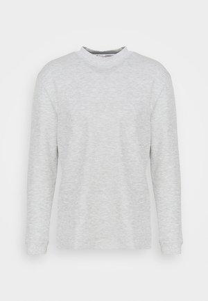 MOCK NECK SNIT - Neule - light grey heather