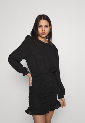 RUCHE DRESS - Cocktailjurk - black