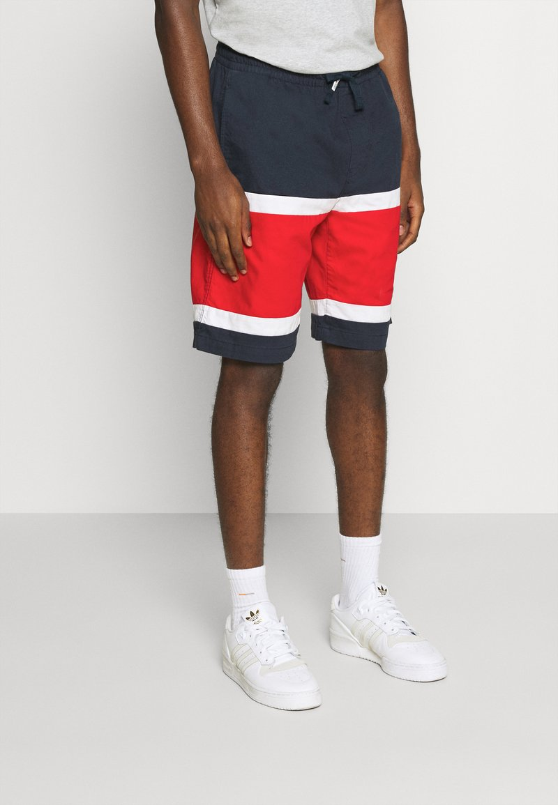 Tommy Jeans - COLORBLOCK BASKETBALL - Shorts - twilight navy/multi