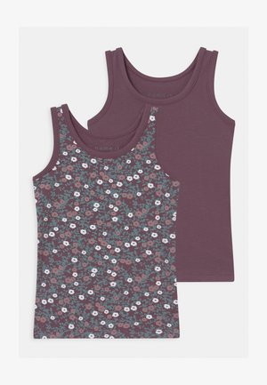 NMFTANK 2 PACK - Hemd - black plum