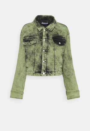 AVIDA JACKET - Denim jacket - green