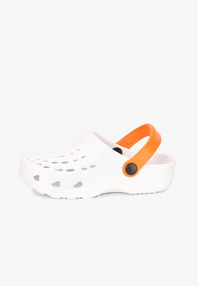 Zuecos - white/orange