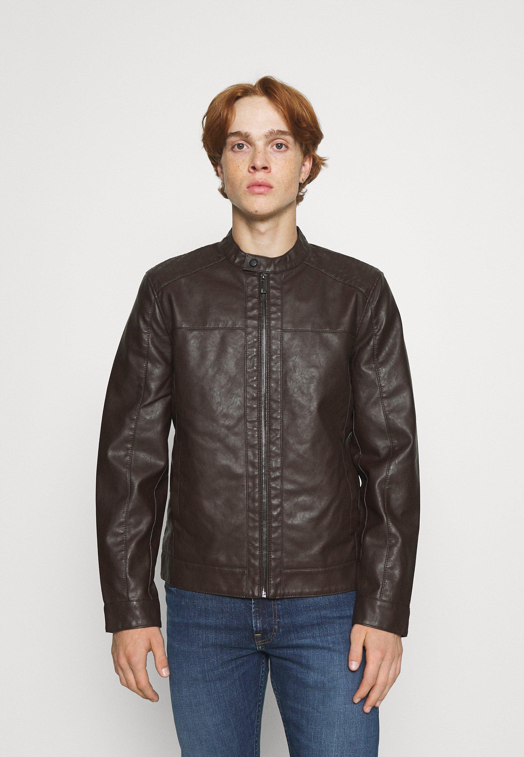 Men ONSMIKE RACER JACKET - Faux leather jacket