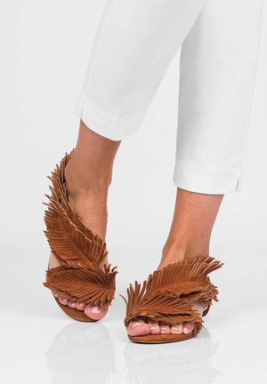 POLY - Sandals - brązowy