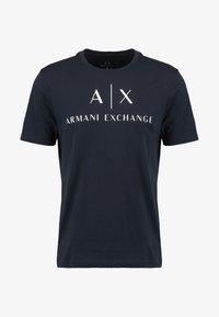 Armani Exchange - Print T-shirt - navy - 4