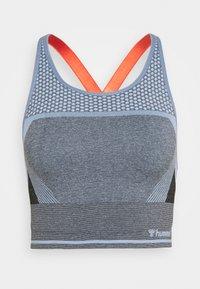 Hummel - SKY SEAMLESS SPORTS TOP - Sportshirt - black/faded denim - 0