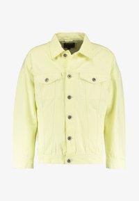 OVERSIZE FIT - Denim jacket - powder yellow