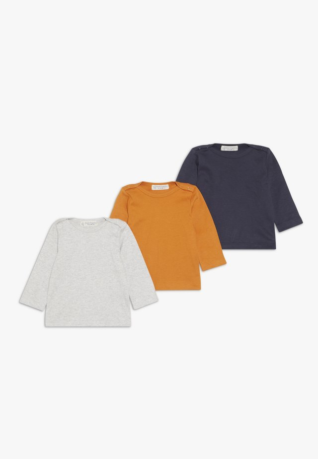 LUNA BABYS 3 PACK - Long sleeved top - mustard/navy/grey melange