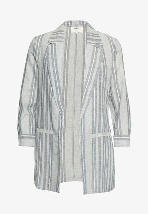ONLPALOMA CANYON  STRIPE LIFE - Short coat - insignia blue/cloud dancer