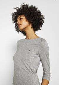 Tommy Hilfiger - BOAT NECK TEE 3/4 - Long sleeved top - grey - 3