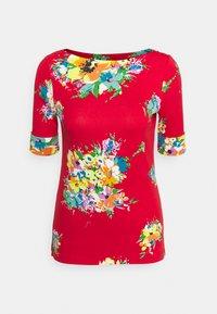 Lauren Ralph Lauren - JUDY ELBOW SLEEVE - Print T-shirt - bright hibiscus/multi - 4