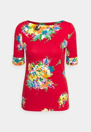 JUDY ELBOW SLEEVE - Print T-shirt - bright hibiscus/multi