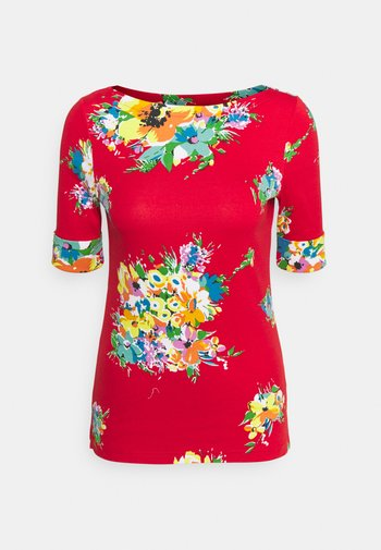 JUDY ELBOW SLEEVE - T-shirt imprimé - bright hibiscus/multi