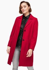 s.Oliver - langarm - Classic coat - dark red - 0