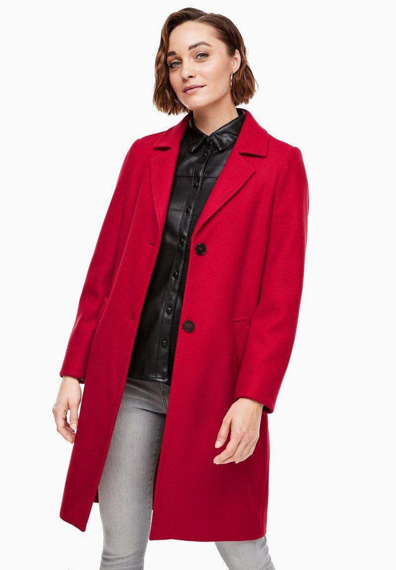 s.Oliver - langarm - Classic coat - dark red