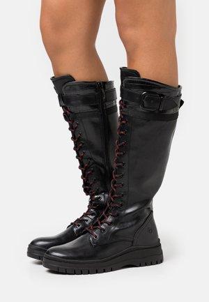 BOOTS - Bottes à lacets - black