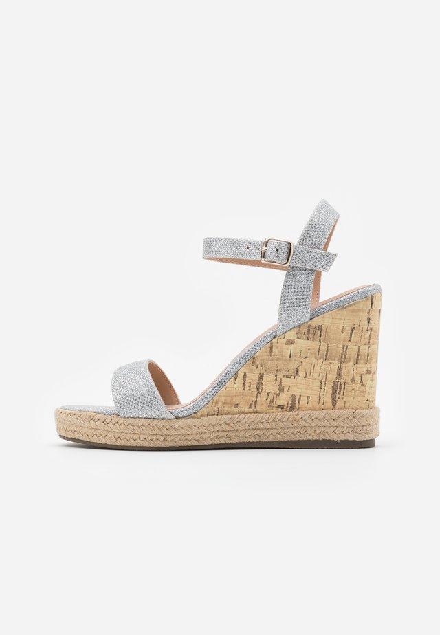 PERTH WEDGE - High Heel Sandalette - silver